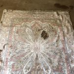Oriental rug before it was cleaned