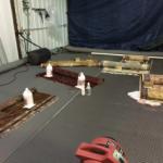 Oriental rugs being cleaned